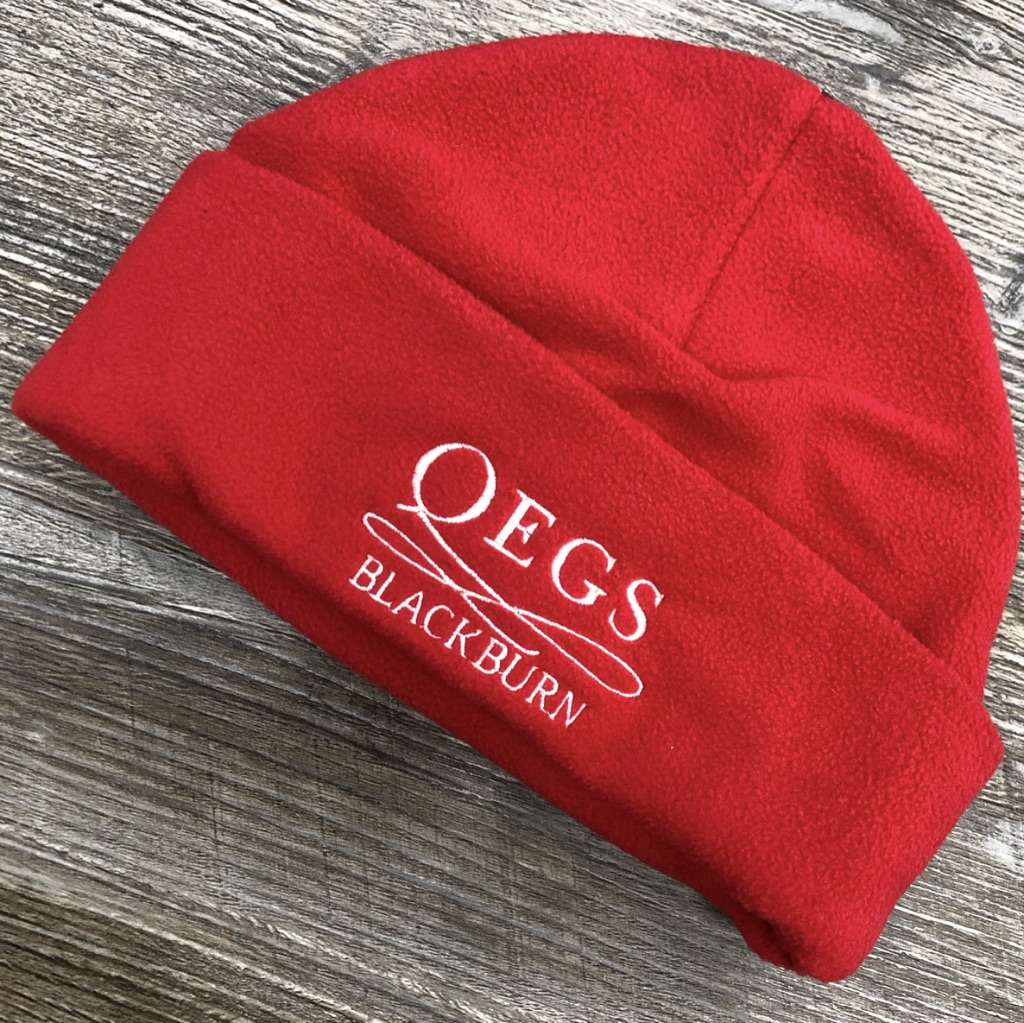 QEGS Red Fleece Hat