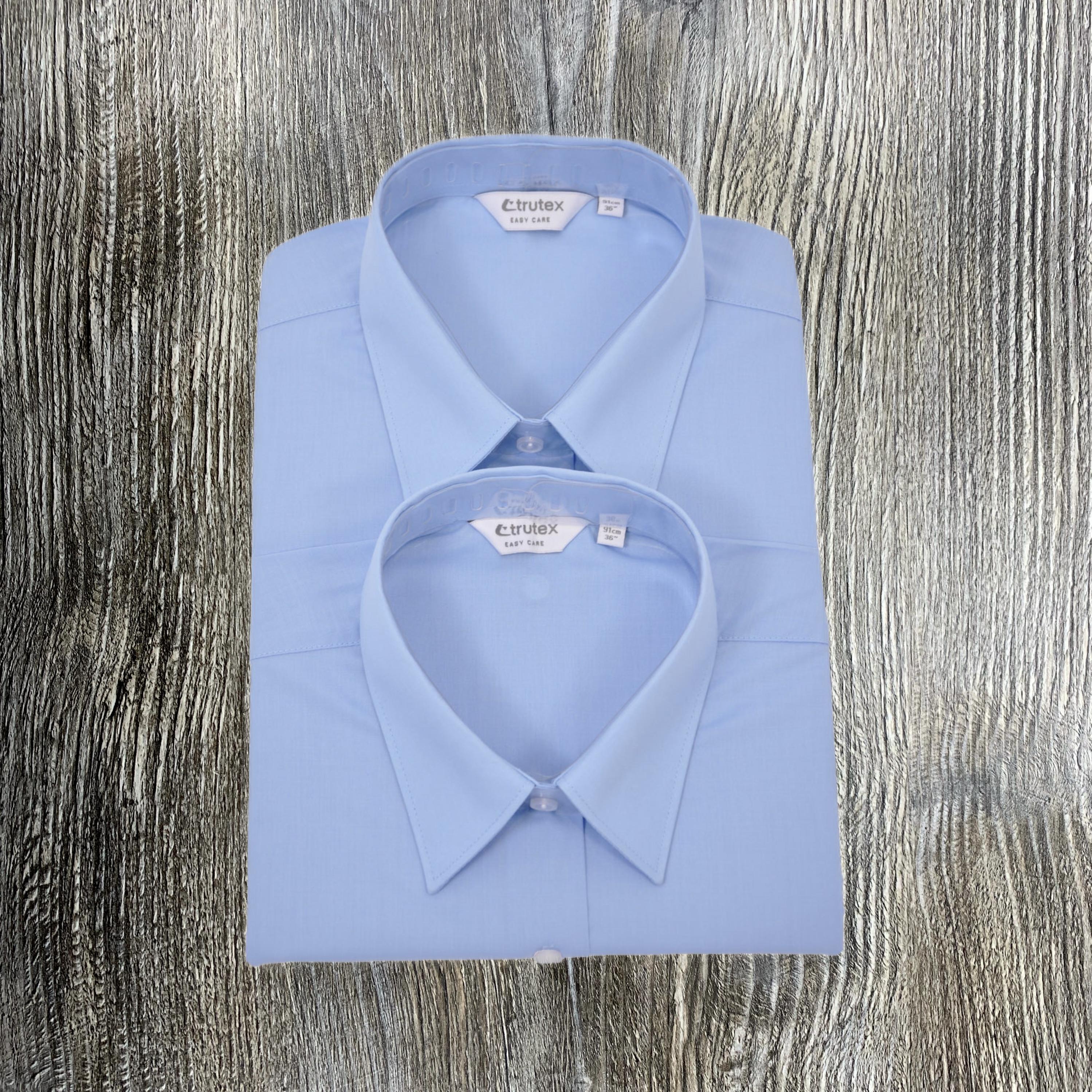 Blue Shirts - Trutex Twin Pack