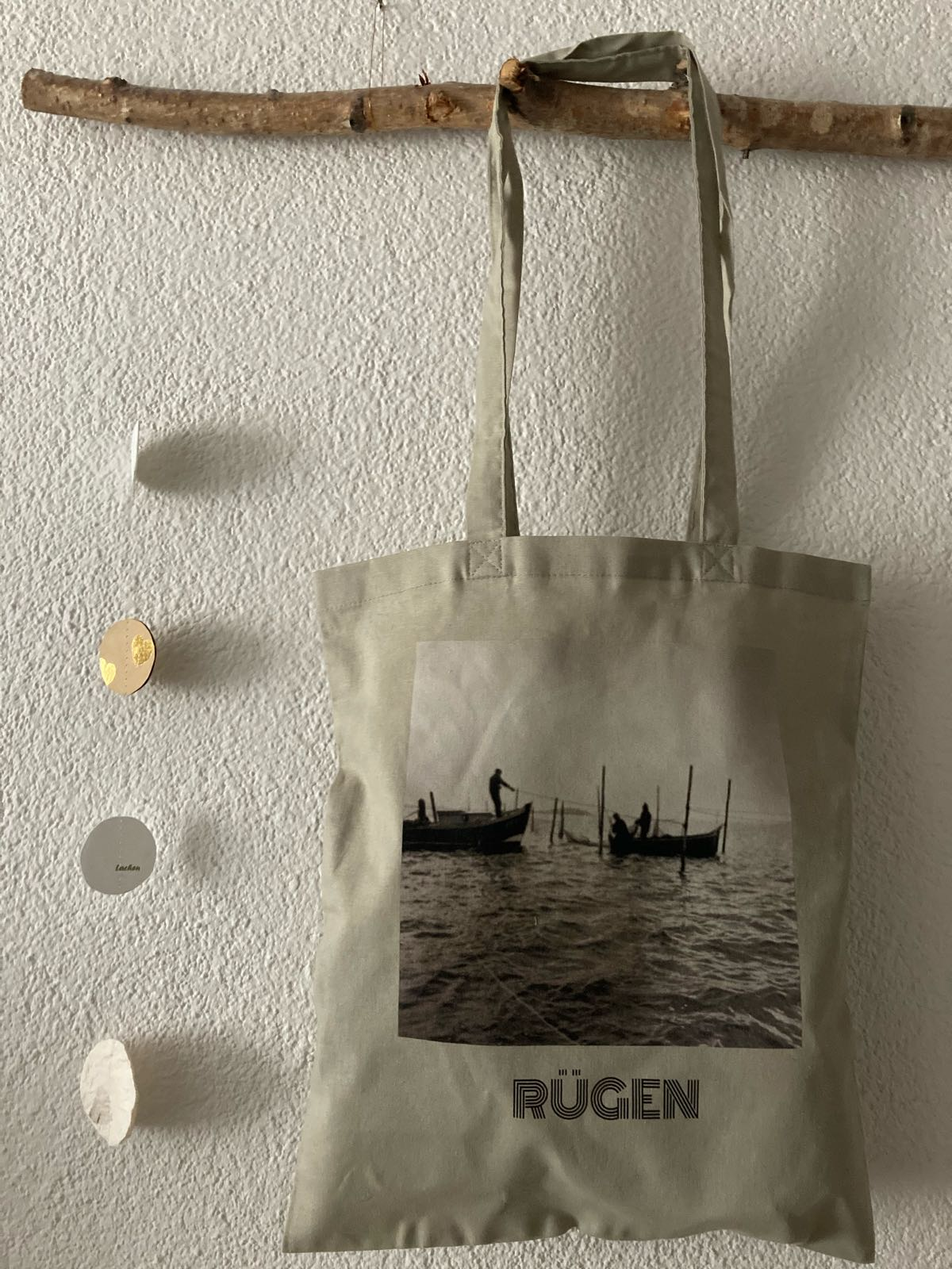 Fischereidesign - Stoffbeutel Rügen