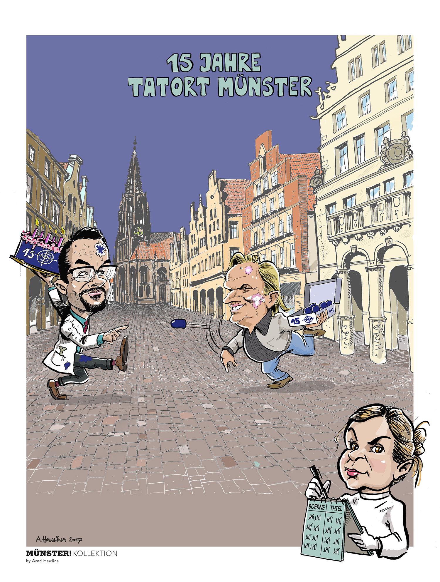 Kunstdruck Tatort Münster