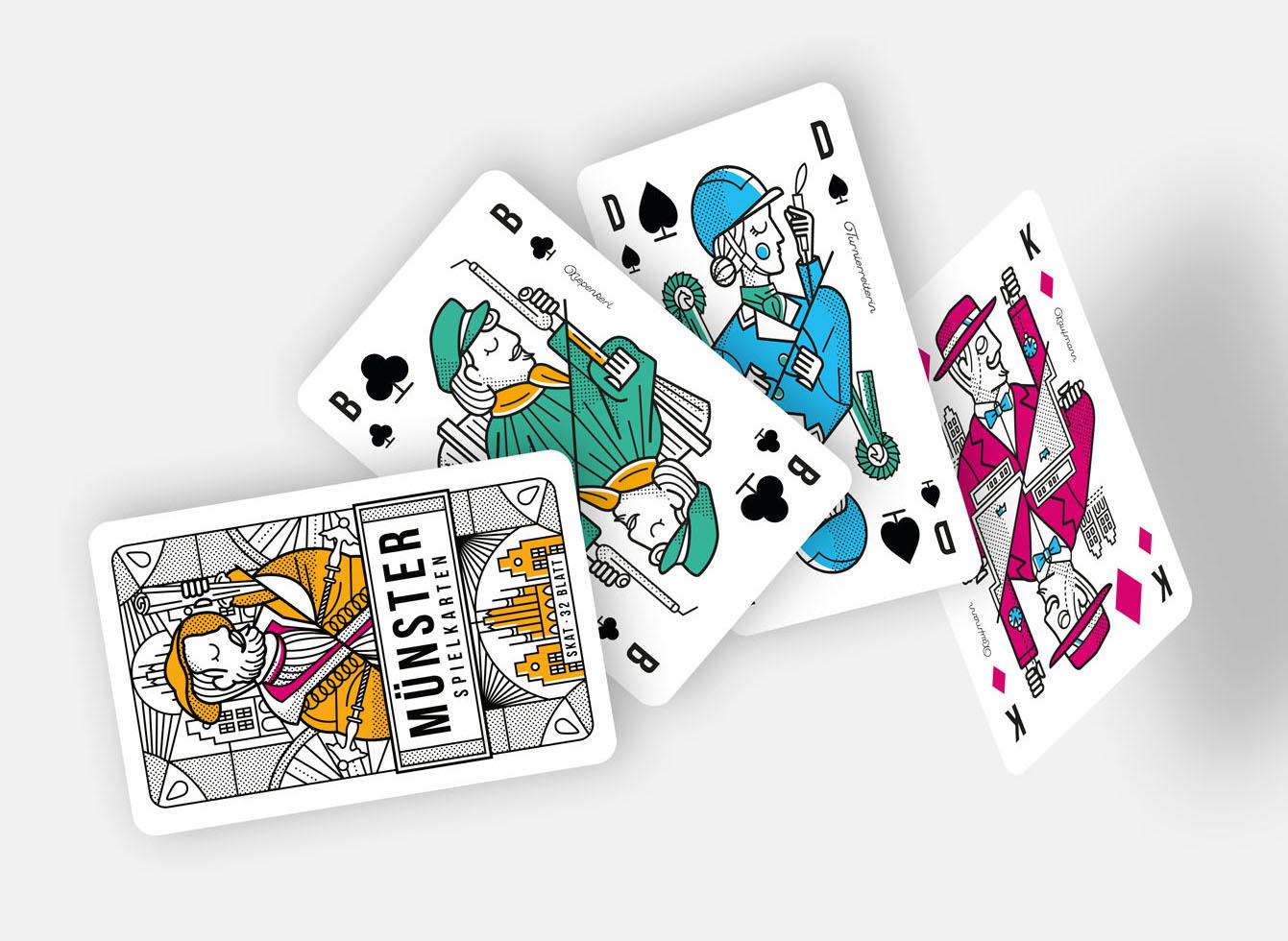 MÜNSTER Spielkarten DoKo-Set