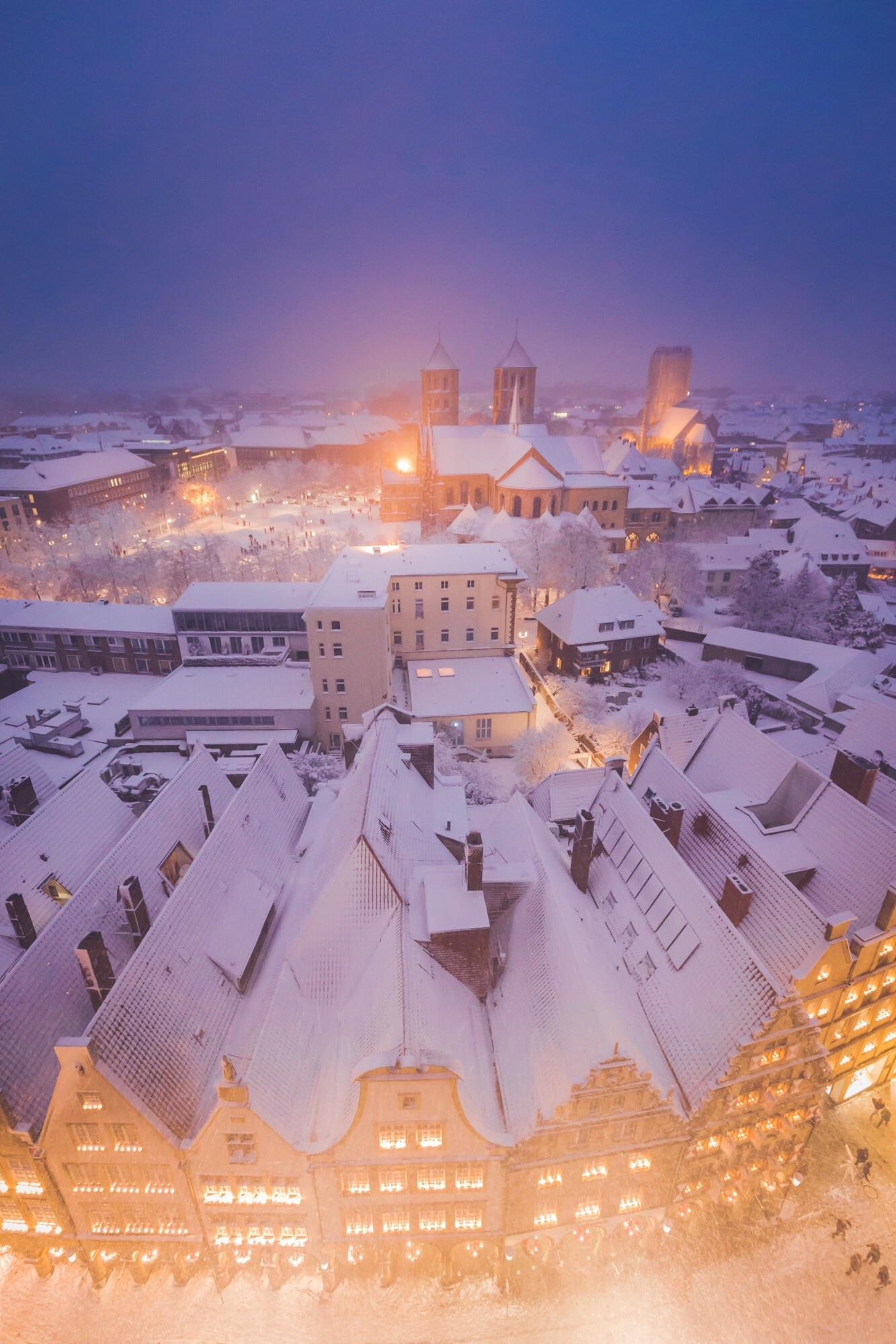 Winter-Dom, Acryl
