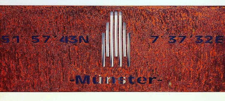 Münster Metallschild