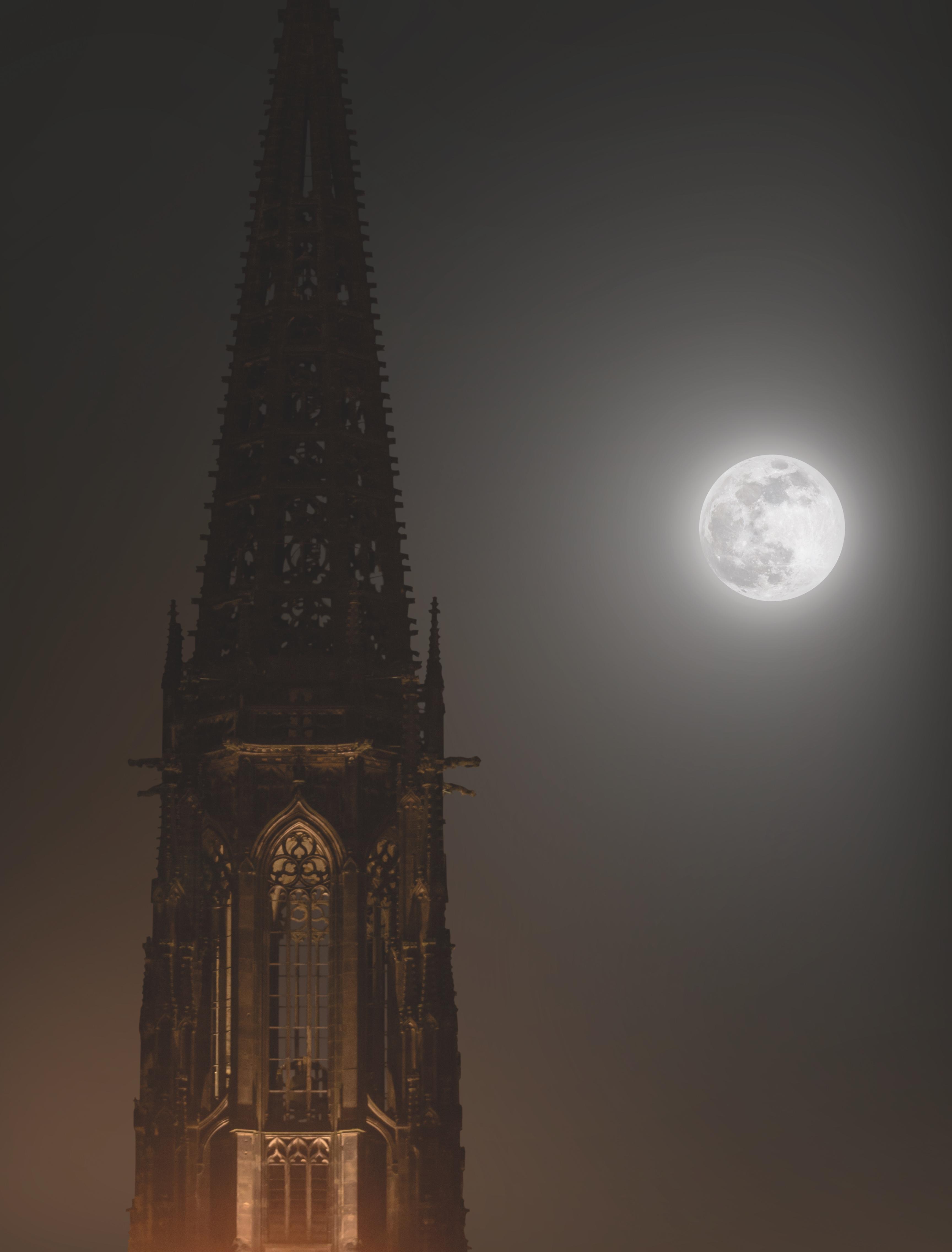 Mond über Lamberti, Leinwand, 60x40