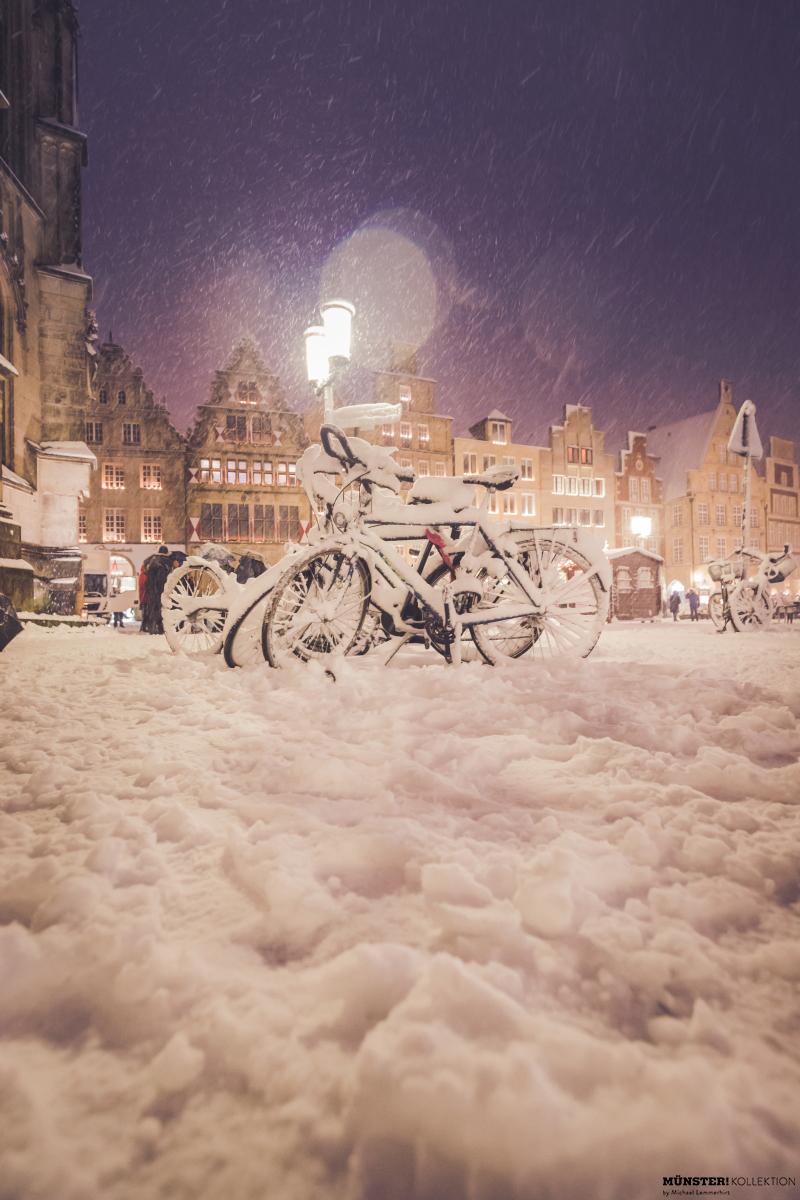 Leeze im Schnee, Leinwand