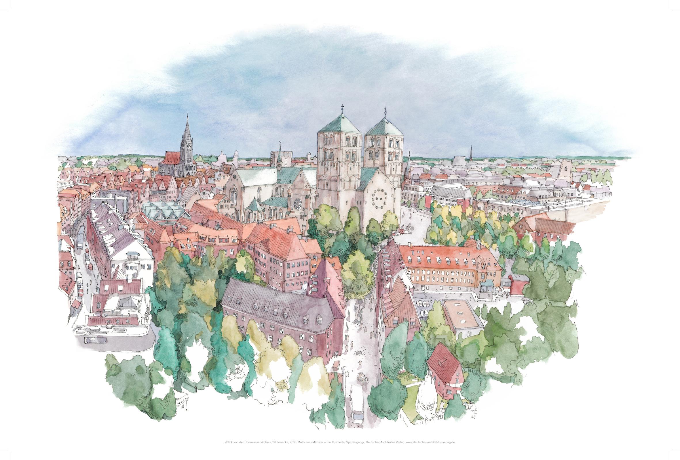 Blick über Münster, gerahmt
