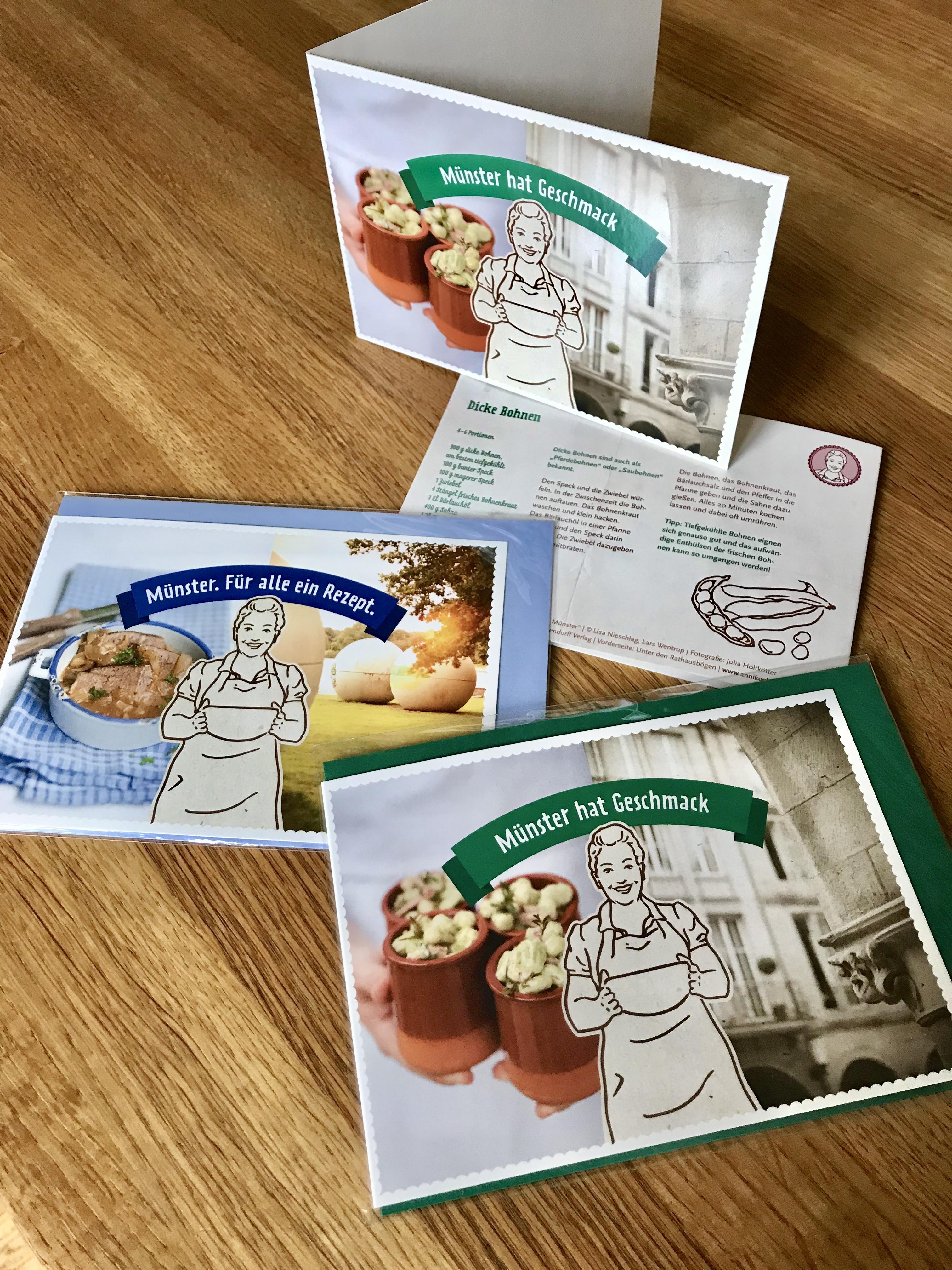Rezept-Postkarte Anni kocht in Münster