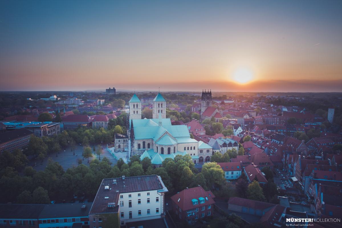 Münster Dom Sonnenuntergang, Leinwand