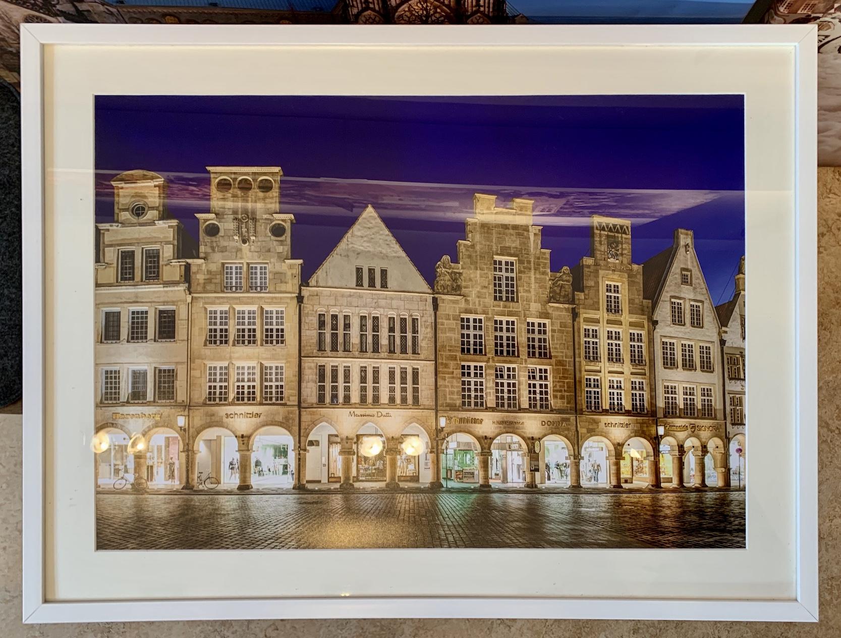 80x60 - Foto im Passepartout mit Rahmen (Diverse Farben & Motive)