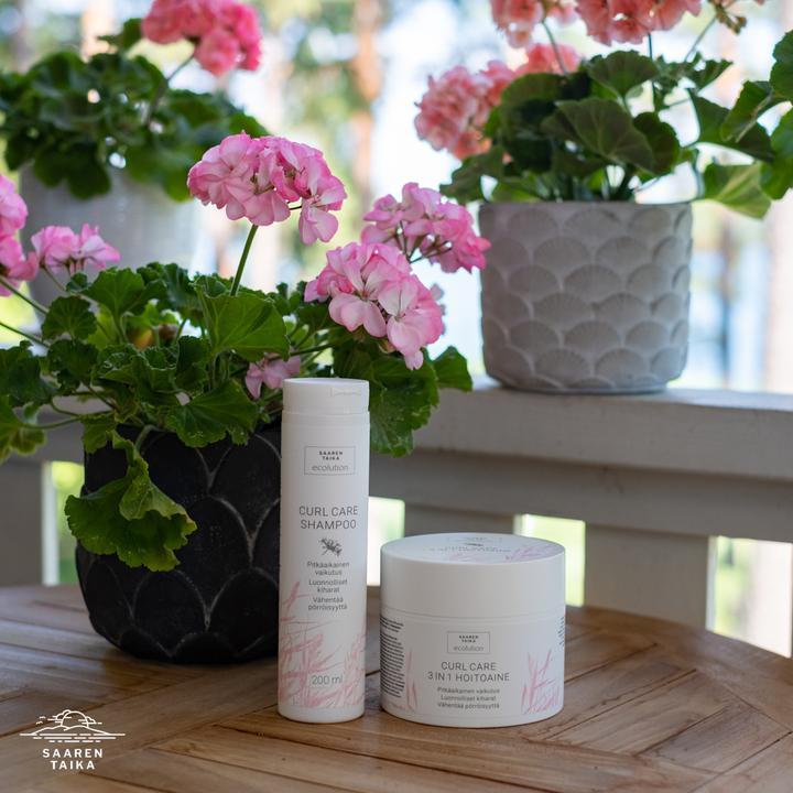 Curl Care shampoo - erityisesti taipuisille ja kiharille hiuksille - Sulfaatiton, vegaaninen, 95% luonnollista