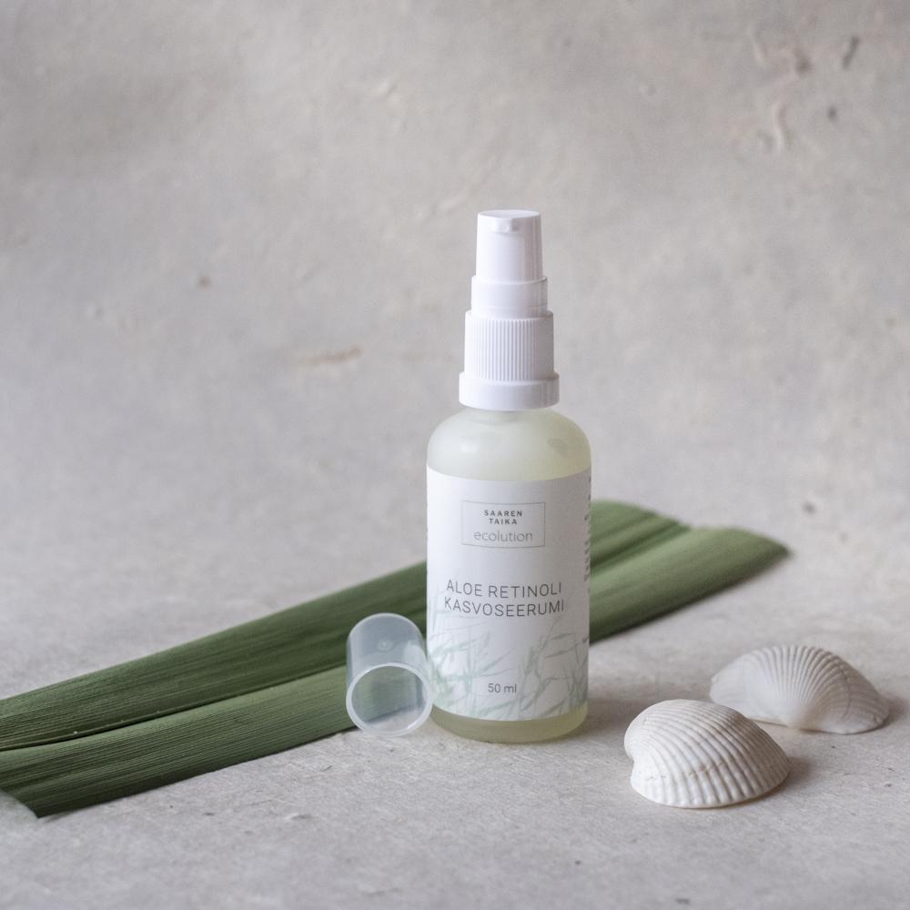 Aloe Retinoli ravitseva kasvoseerumi, joka sopii mm. akneiholle ja ikääntyvälle iholle.