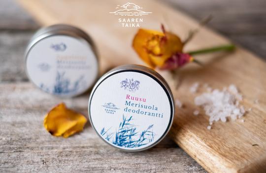 Voidedeodorantti Ruusu Merisuola