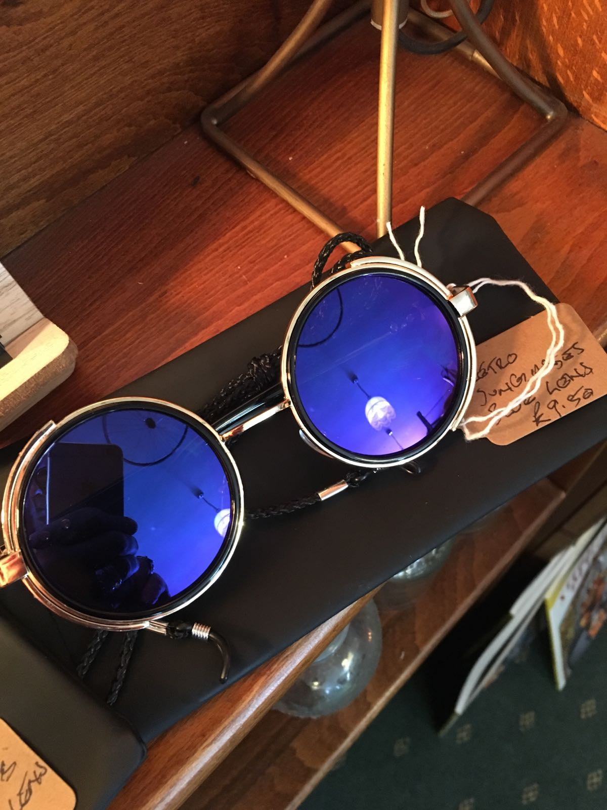 Sunglasses, Retro Style Gold Coloured Frame