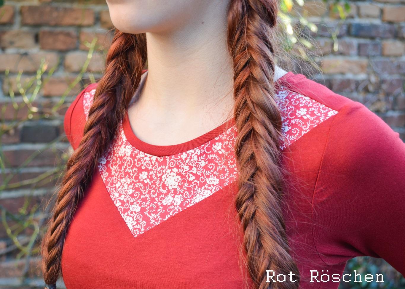 Damen LA Blaudruck-Einsatz-Rot