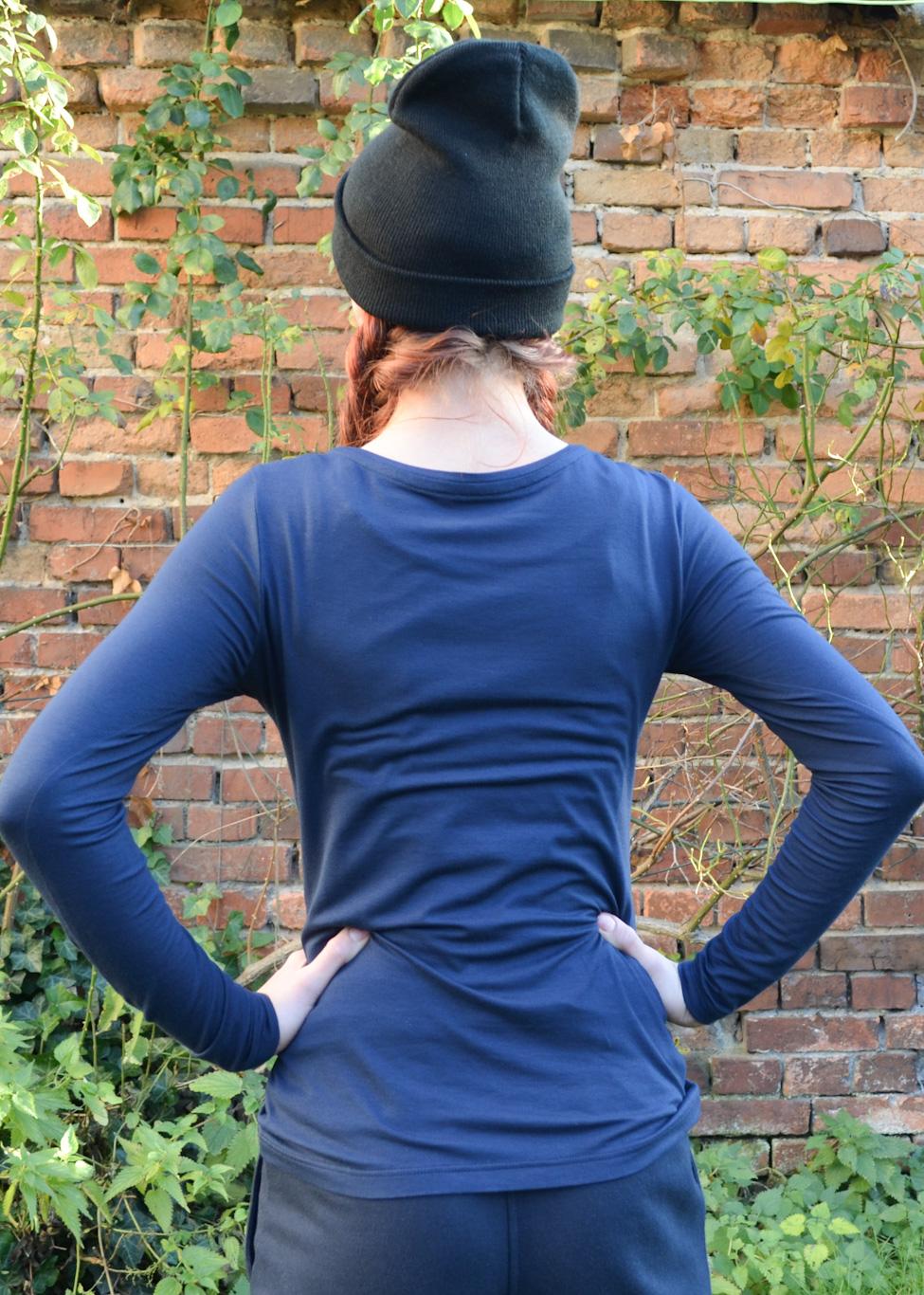 Damen LA Blaudruck-Einsatz-Blau