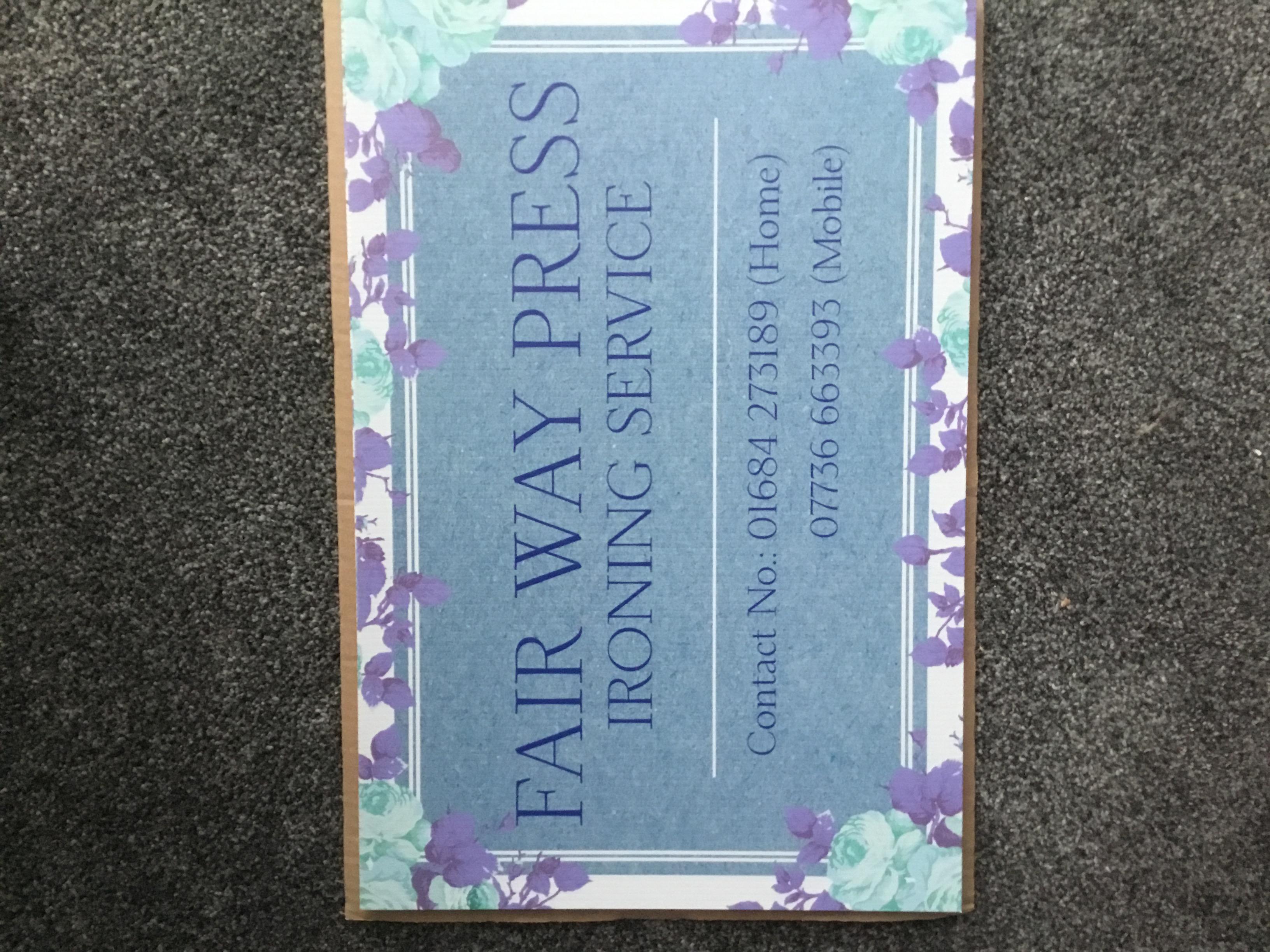 Fair Way Press - Ironing Service