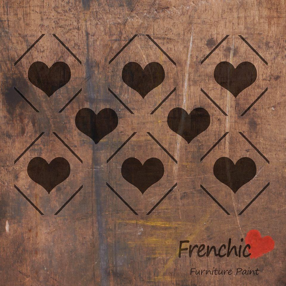 Diamond Heart Stencil