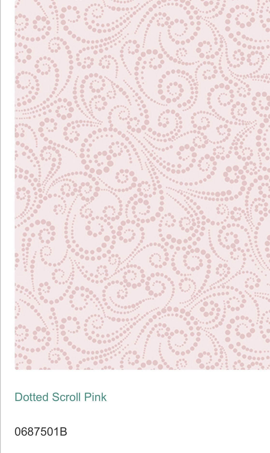 Dotted Scroll Rosa 06875-01