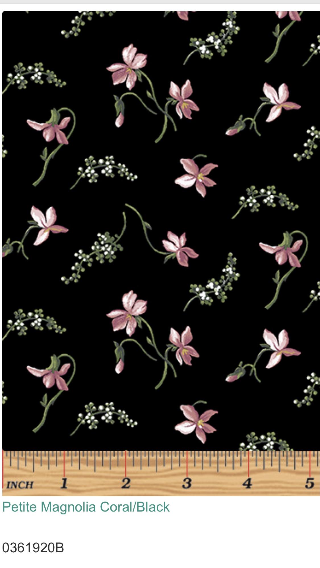 Magnolia Petite  Svart-Rosa 03619-20