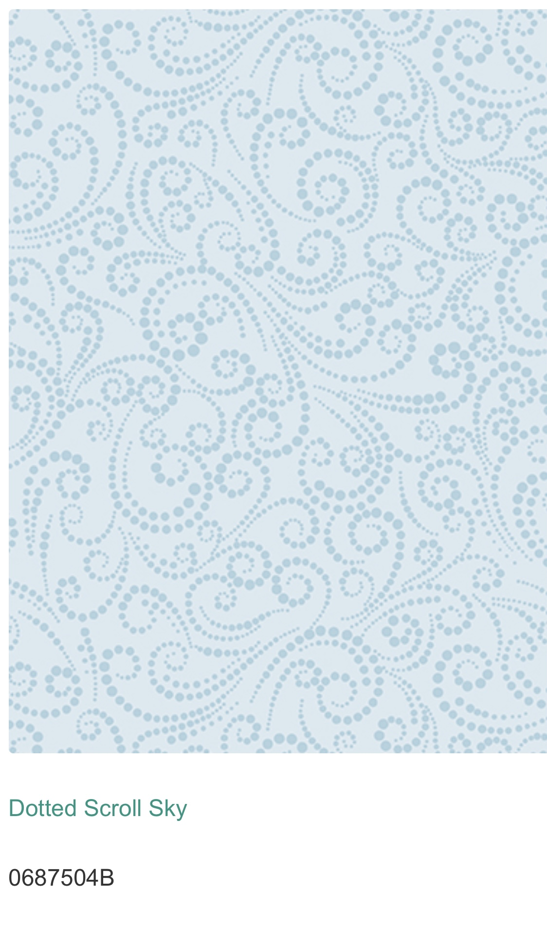 Dotted Scroll Ljusblå 06875-04