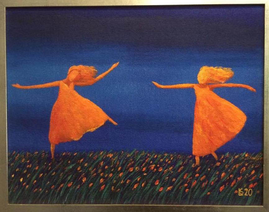 Loistavat tanssijat 40 x 50cm kehyksineen