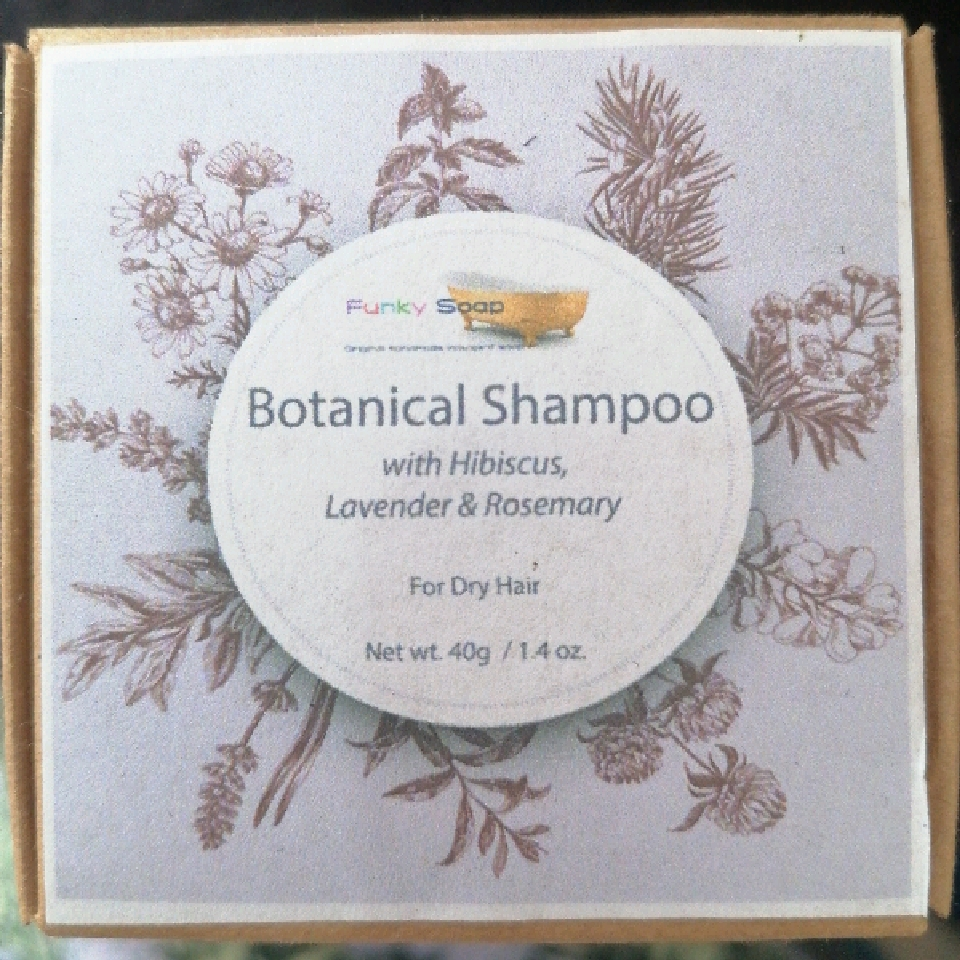 Botanical Shampoo Cubes with Hibiscus & Lavender - for Dry Hair, 40g