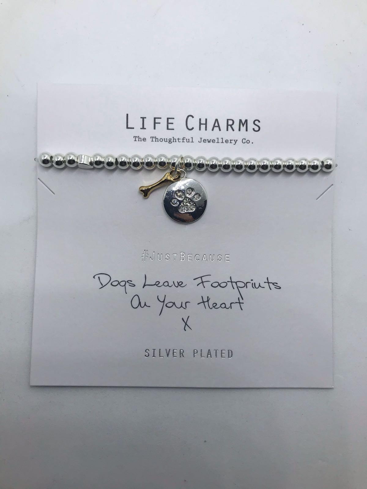 Life Charms dog bracelet