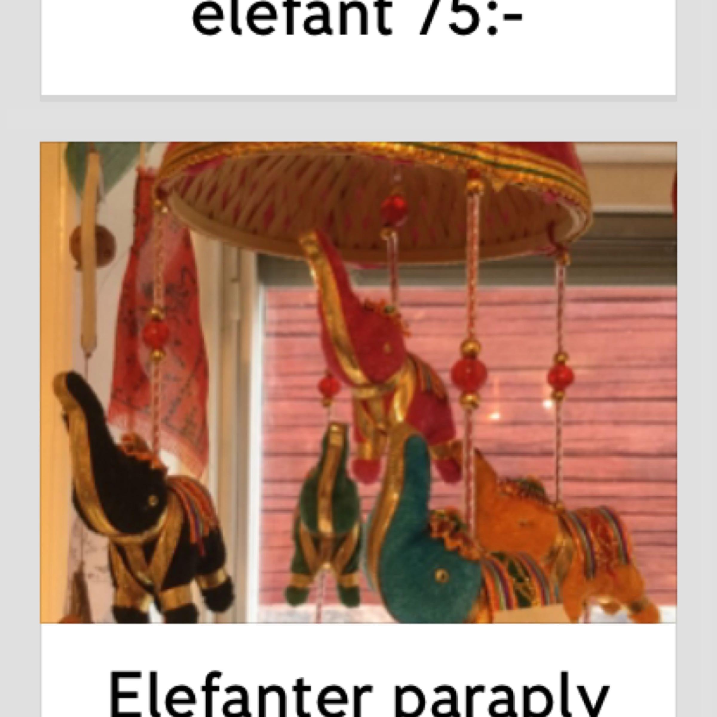 Elefanter paraply mobil 99:-