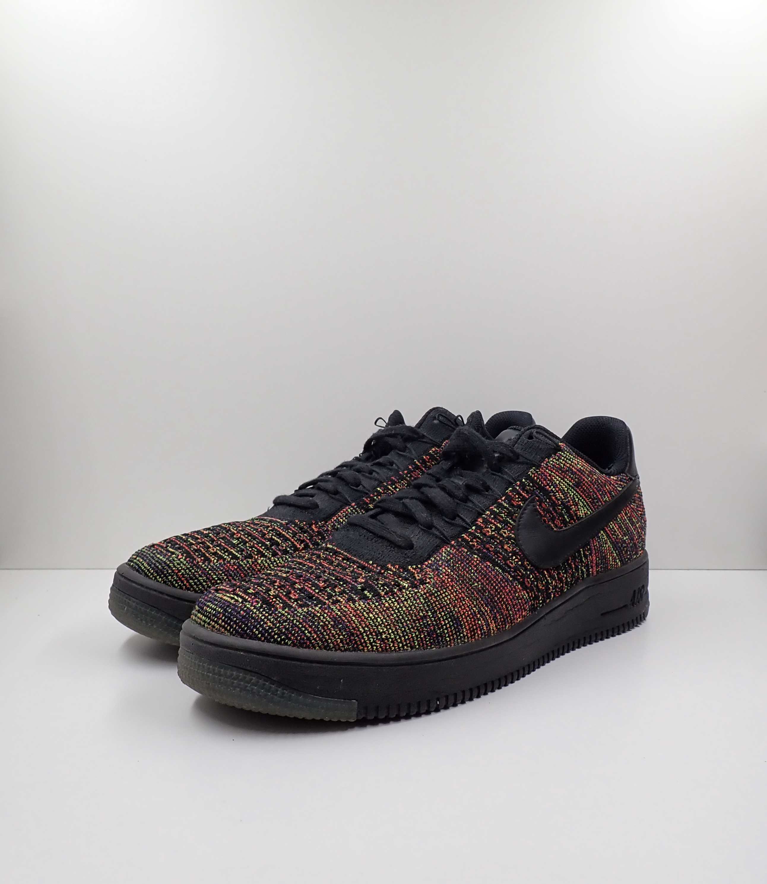 Nike Air Force 1 Low Flyknit Black Multi Color