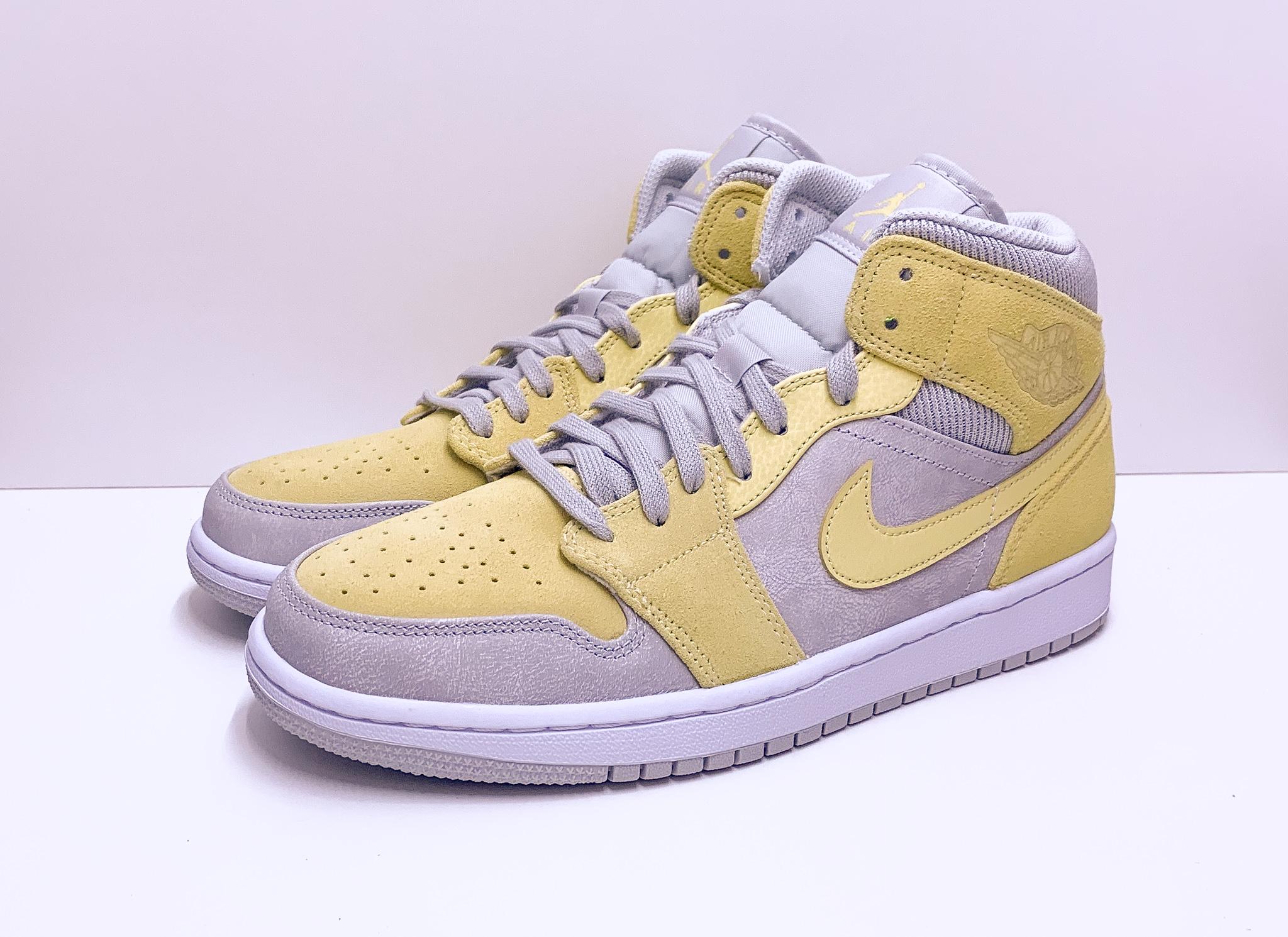 Jordan 1 Mid Mixed Textures Yellow