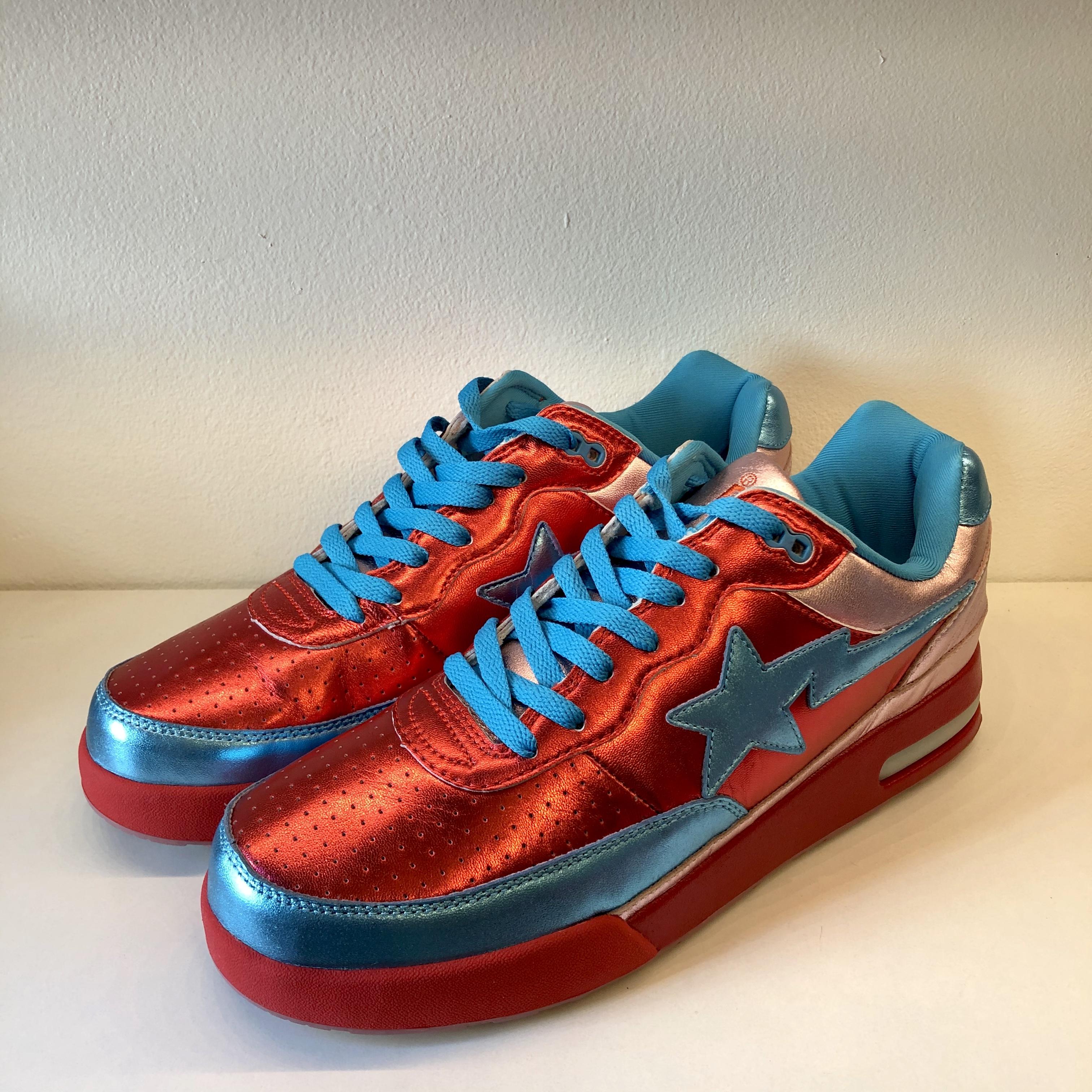 Bapesta Pharrell x Roadsta FS-034 Low Red Blue