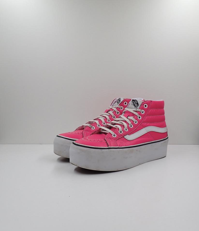 Vans Pink Platform Sk8 Hi
