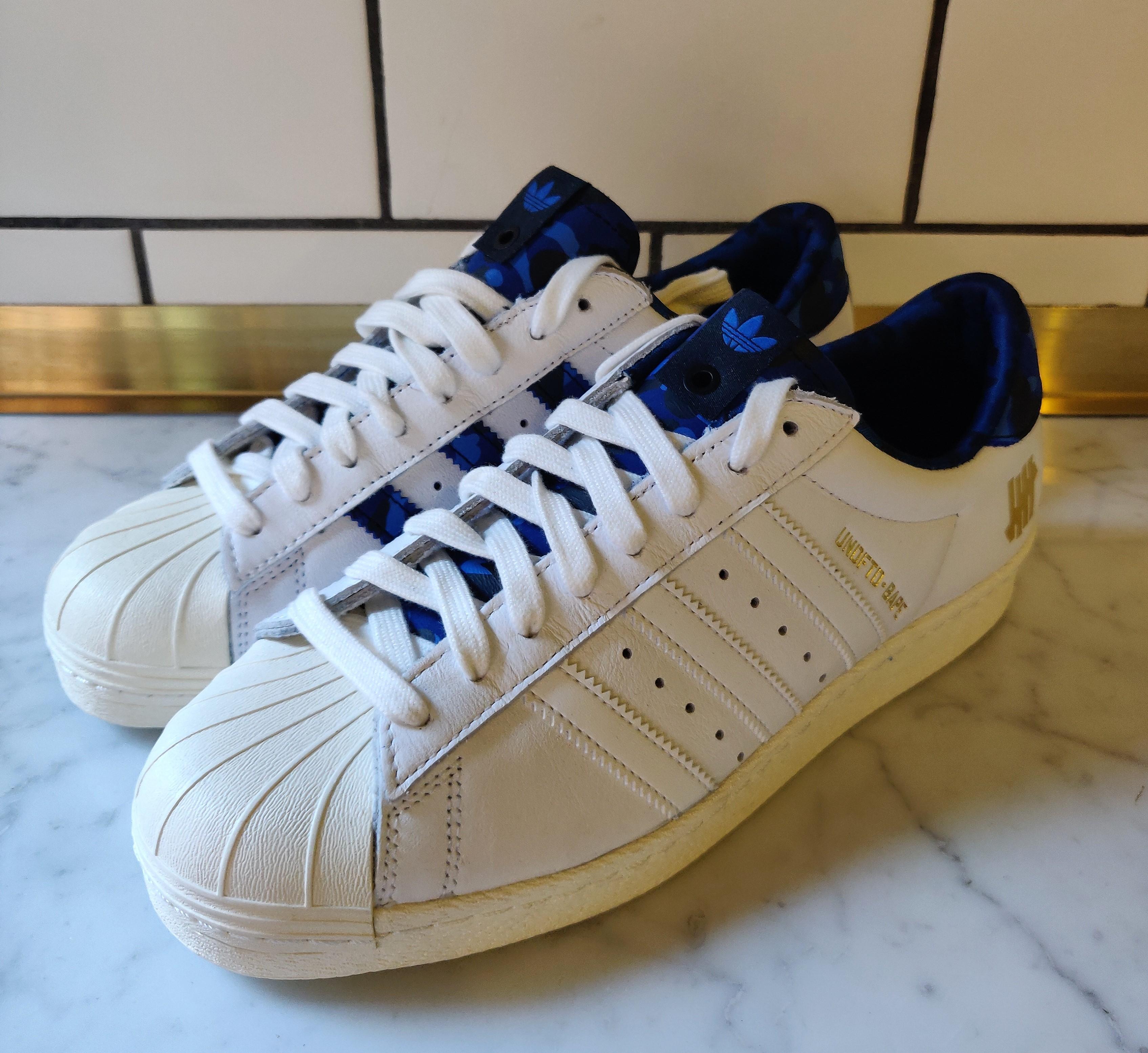 Adidas Superstar 80s UNDFTD X BAPE White Blue