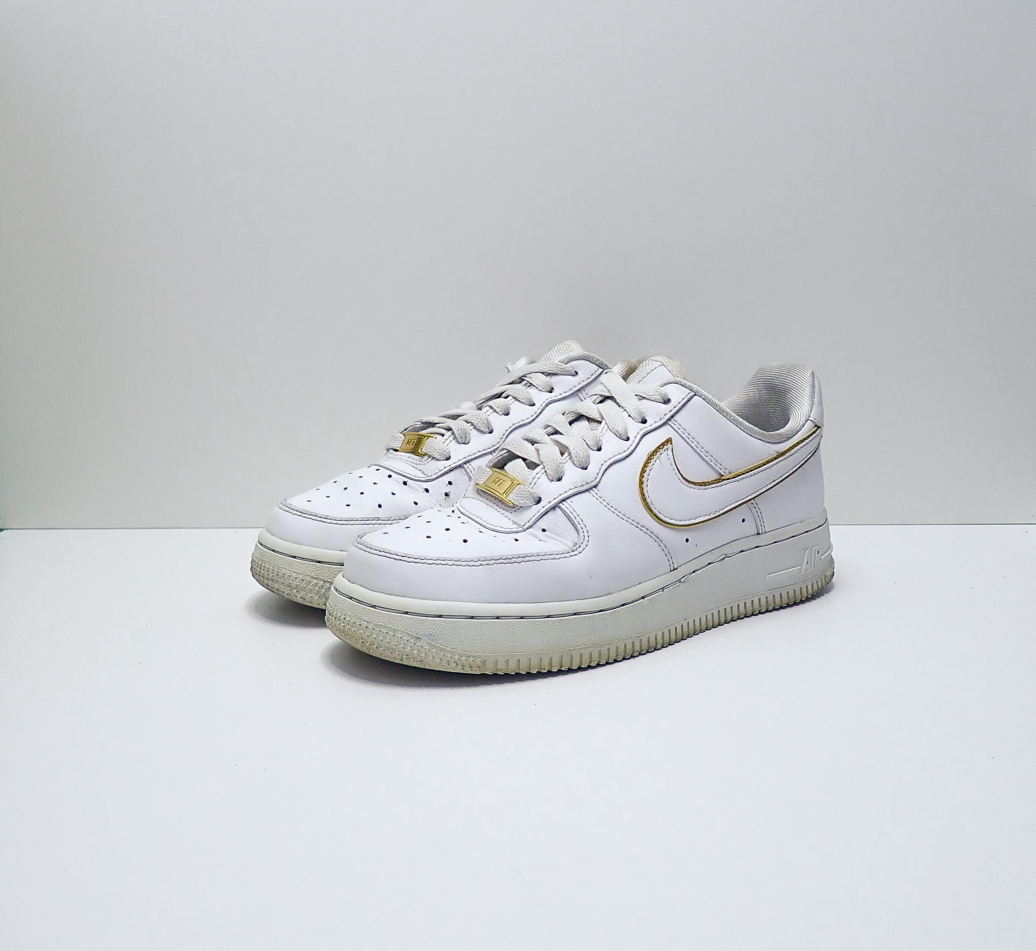 Nike Air Force 1 Low Icon Clash White Metallic Gold (W)