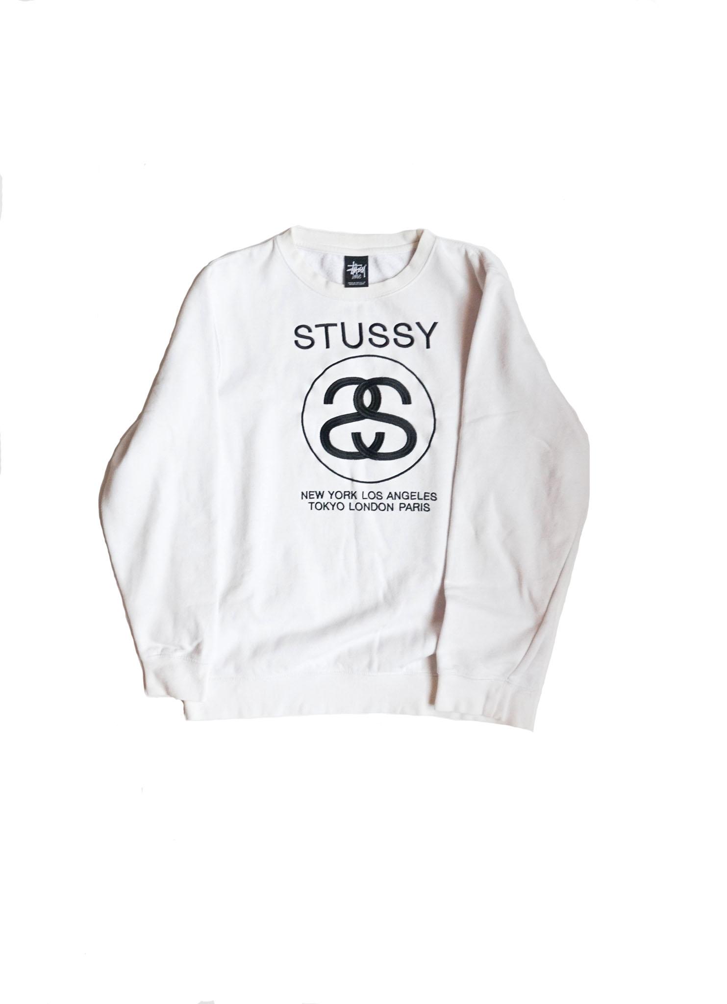 Stussy Crew White