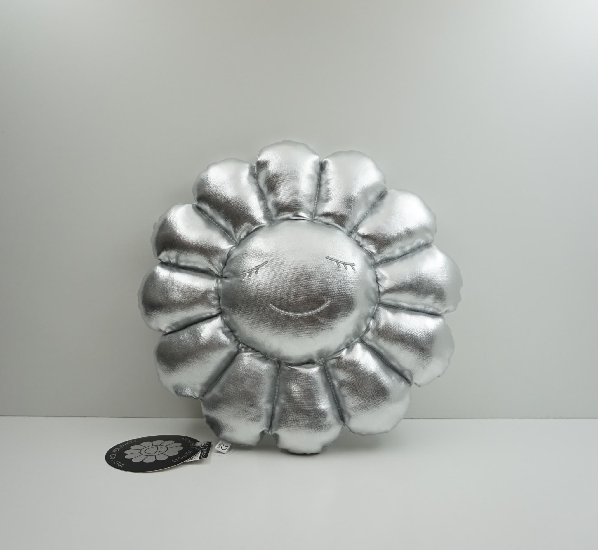 Takashi Murakami Silver Flower Plush 30 CM
