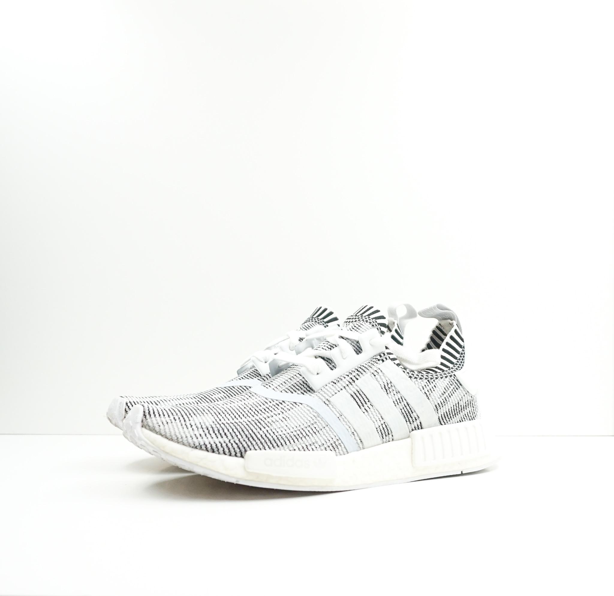 Adidas NMD R1 Glitch Camo White Black