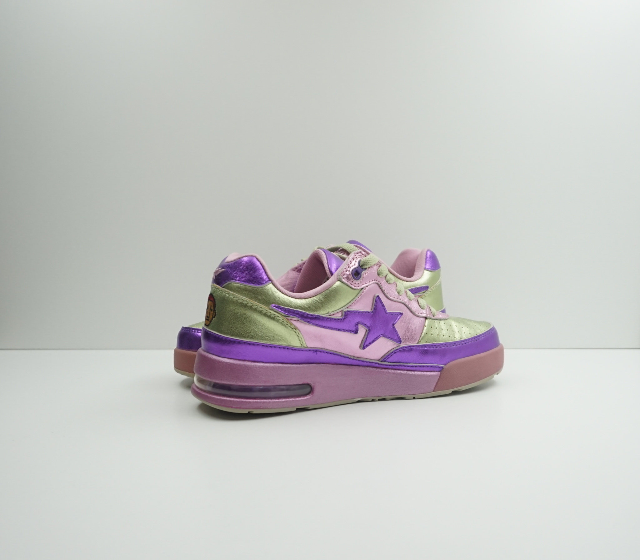 Bape Pharrell x Roadsta FS-034 Low 'Purple Green'