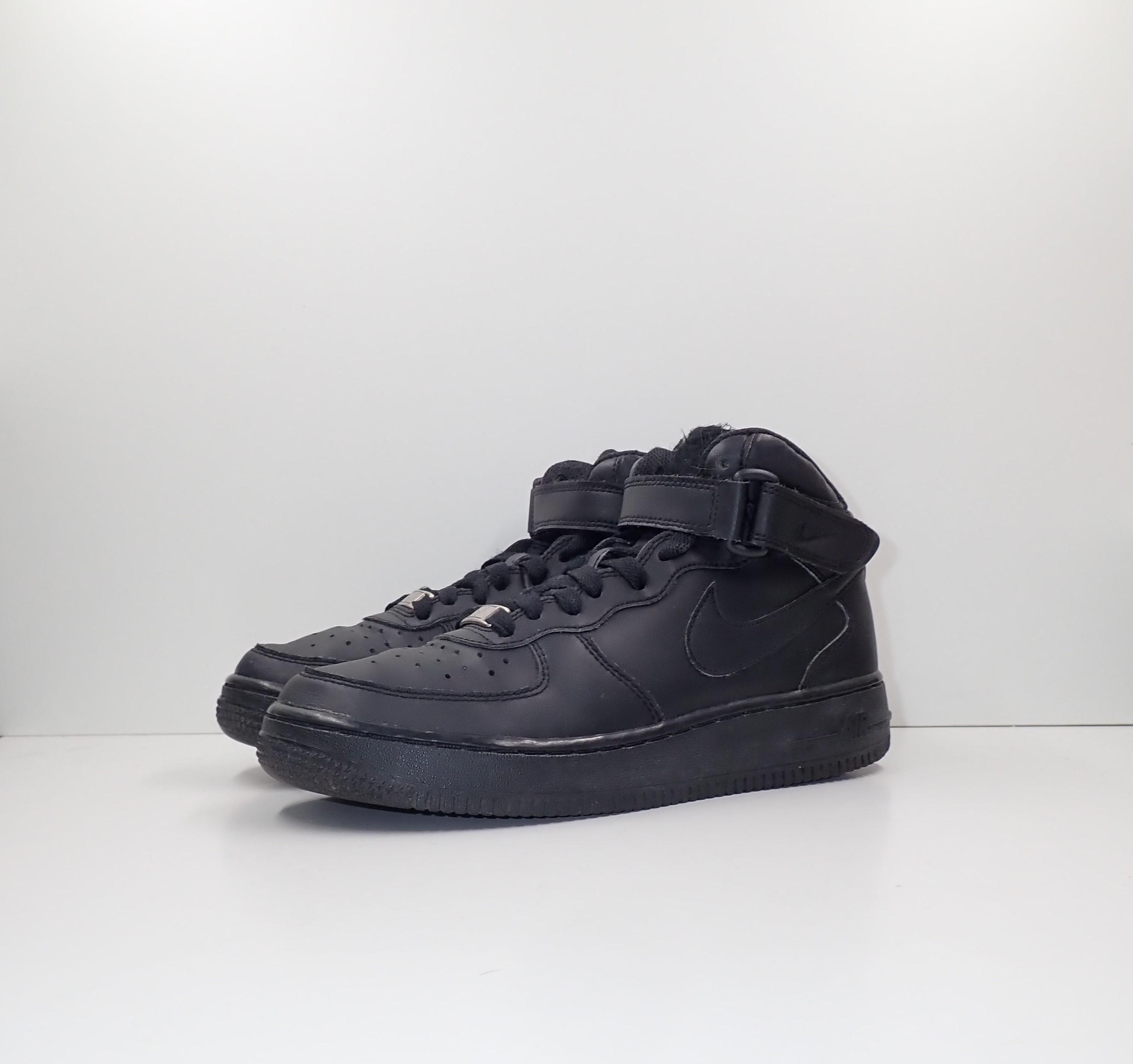 Nike Air Force 1 Mid Black (GS)