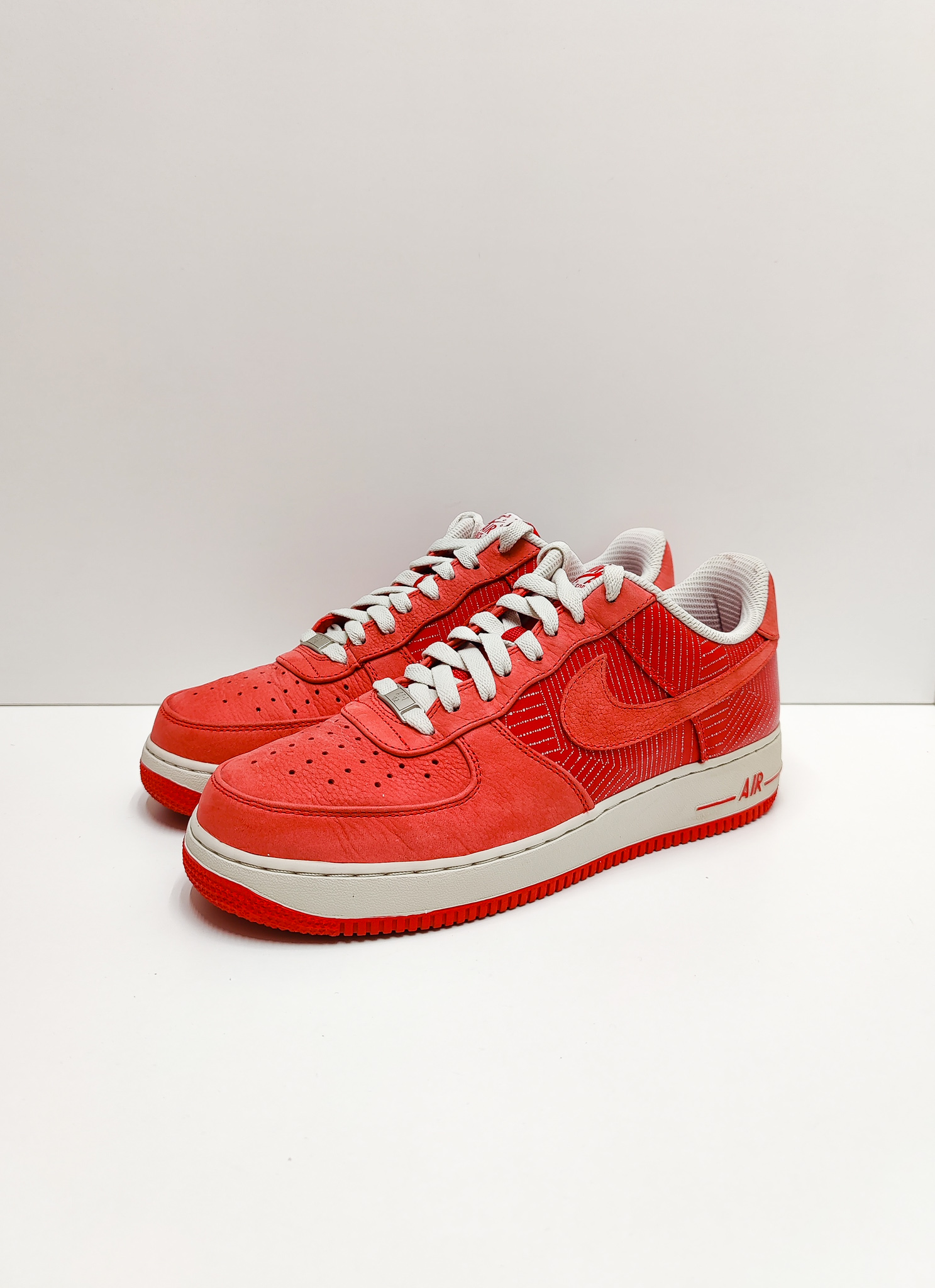 Nike Air Force 1 Low Premium Sport Red/Light Bone