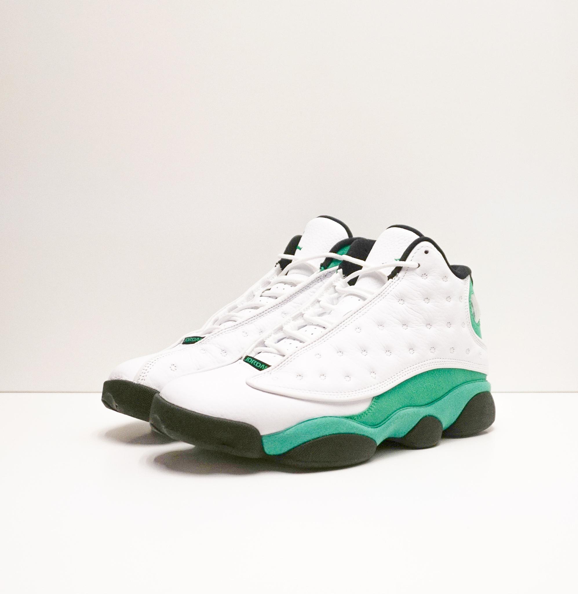 Jordan 13 Retro White Lucky Green