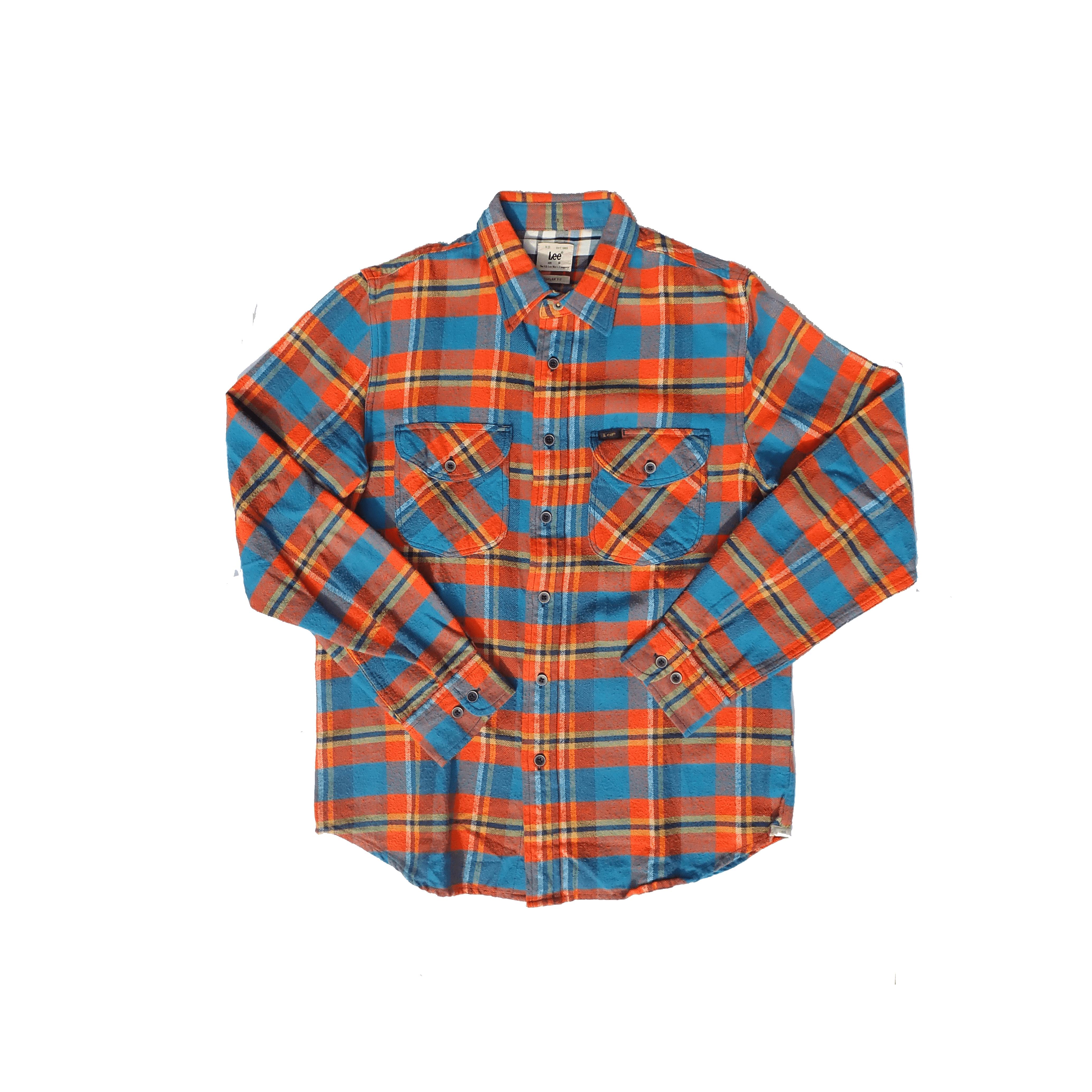 Lee Orange Button Up Shirt