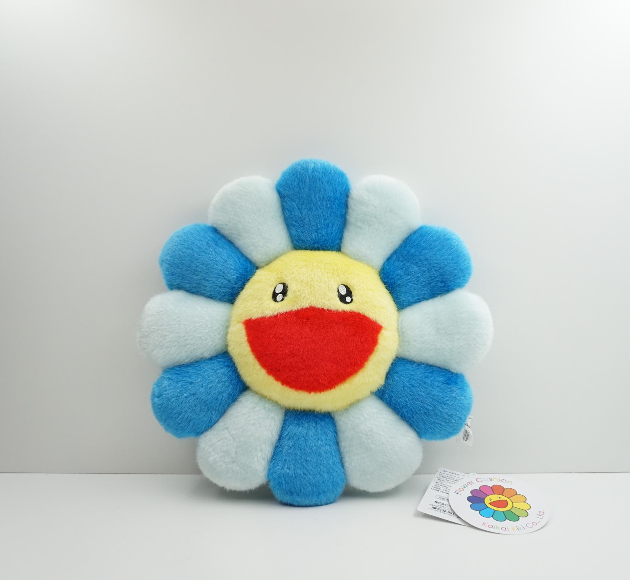Takashi Murakami Blue Flower Plush 30 CM