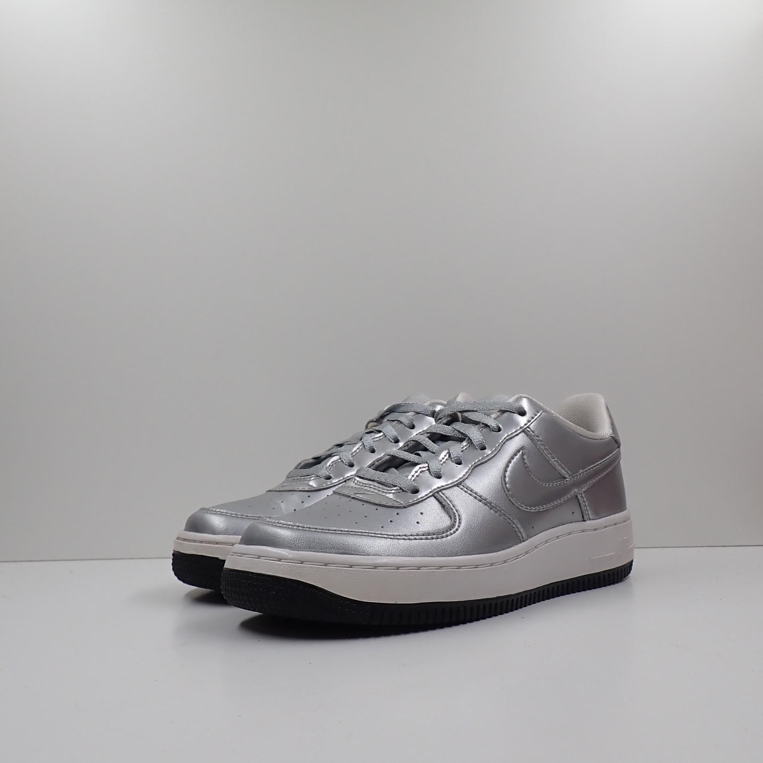 Nike Air Force 1 SE GS Metallic Silver