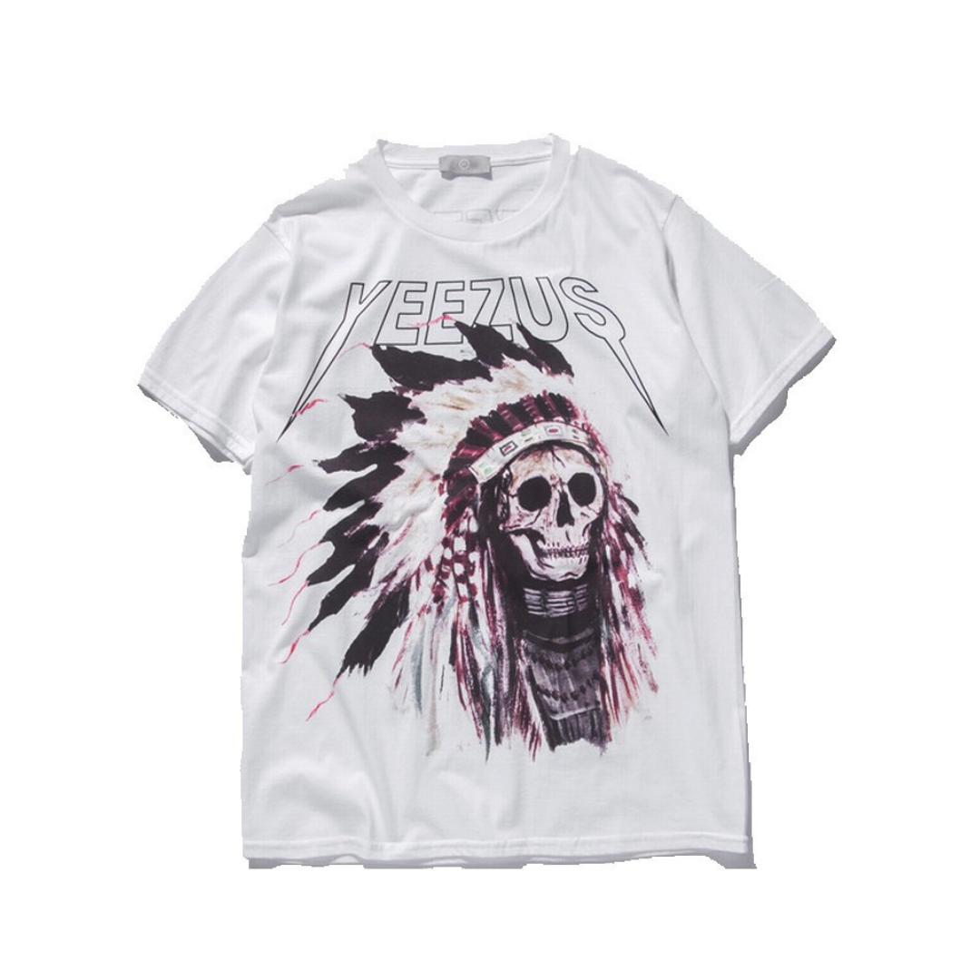 Yeezus Tour Indian Skull T Shirt