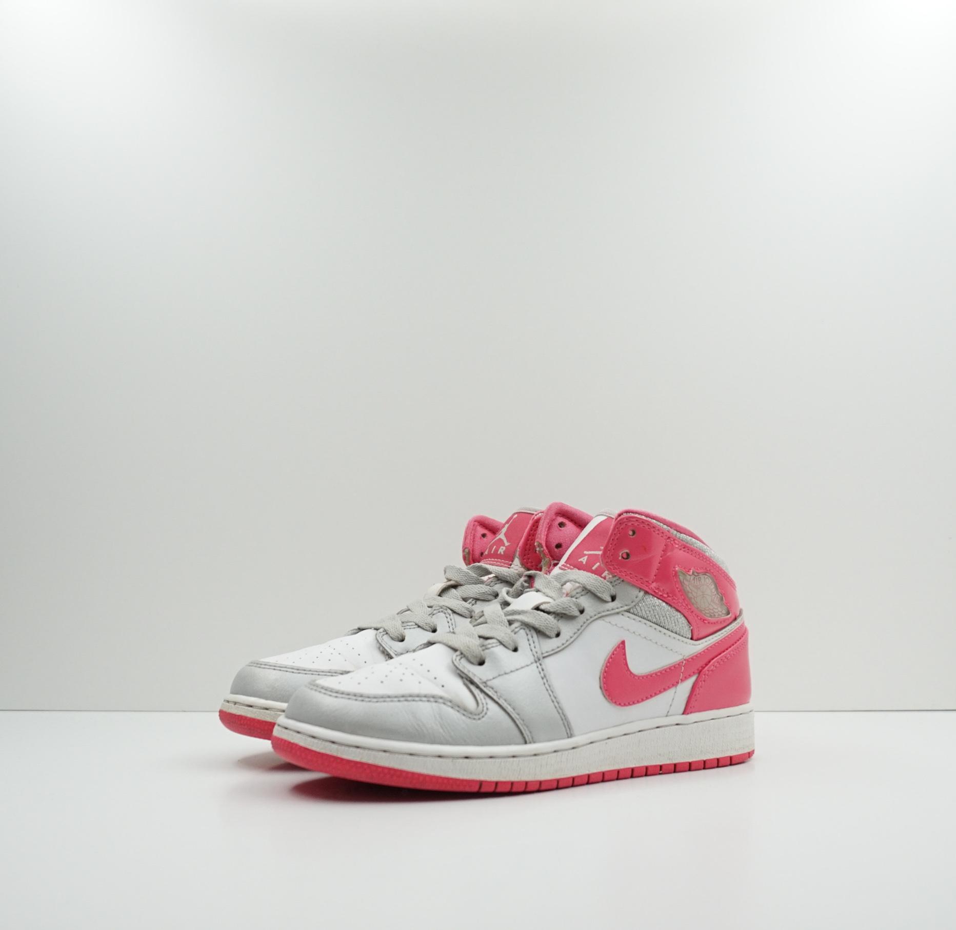 Nike Air Jordan 1 Mid GS Platinum Pink