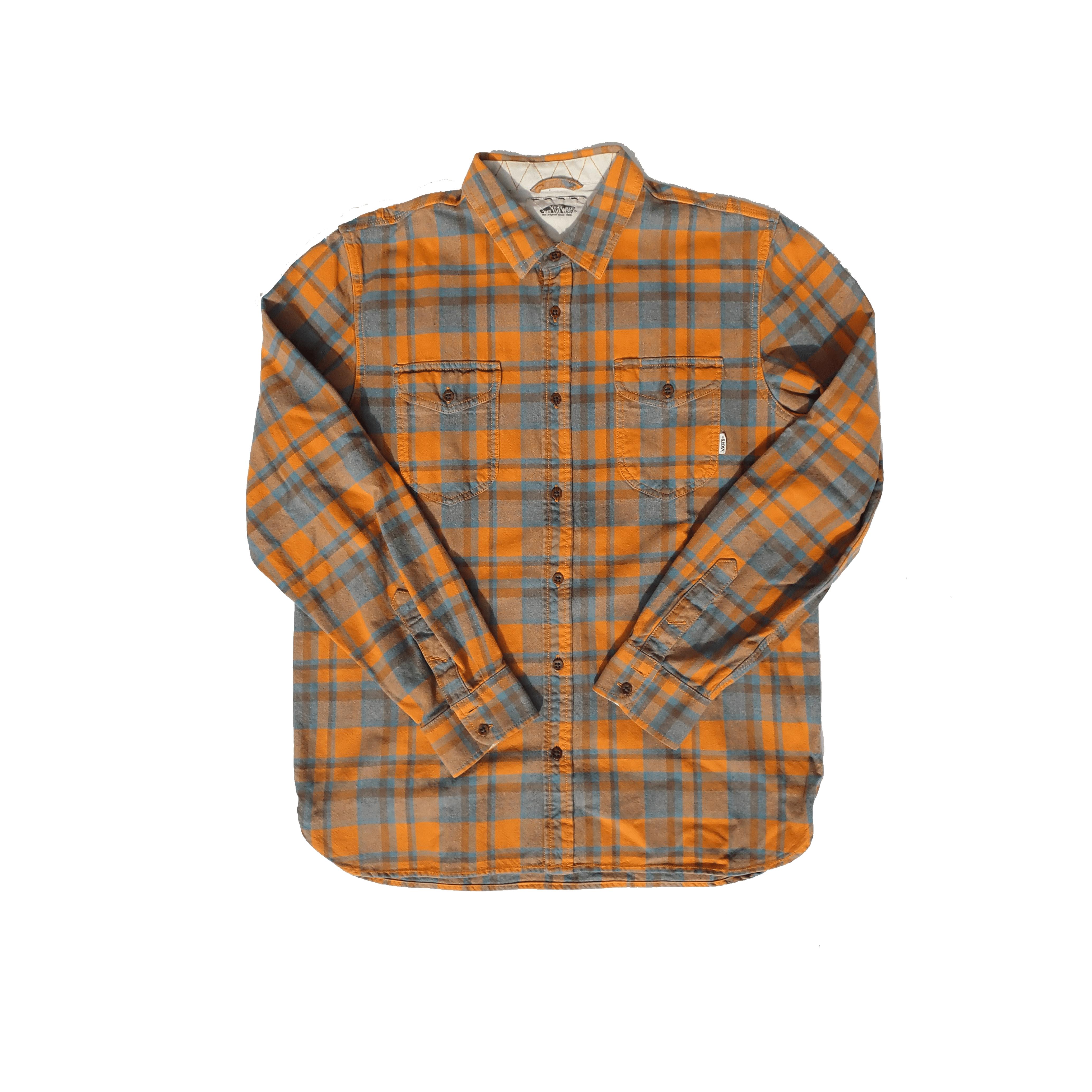 Vans Orange Button Up Shirt