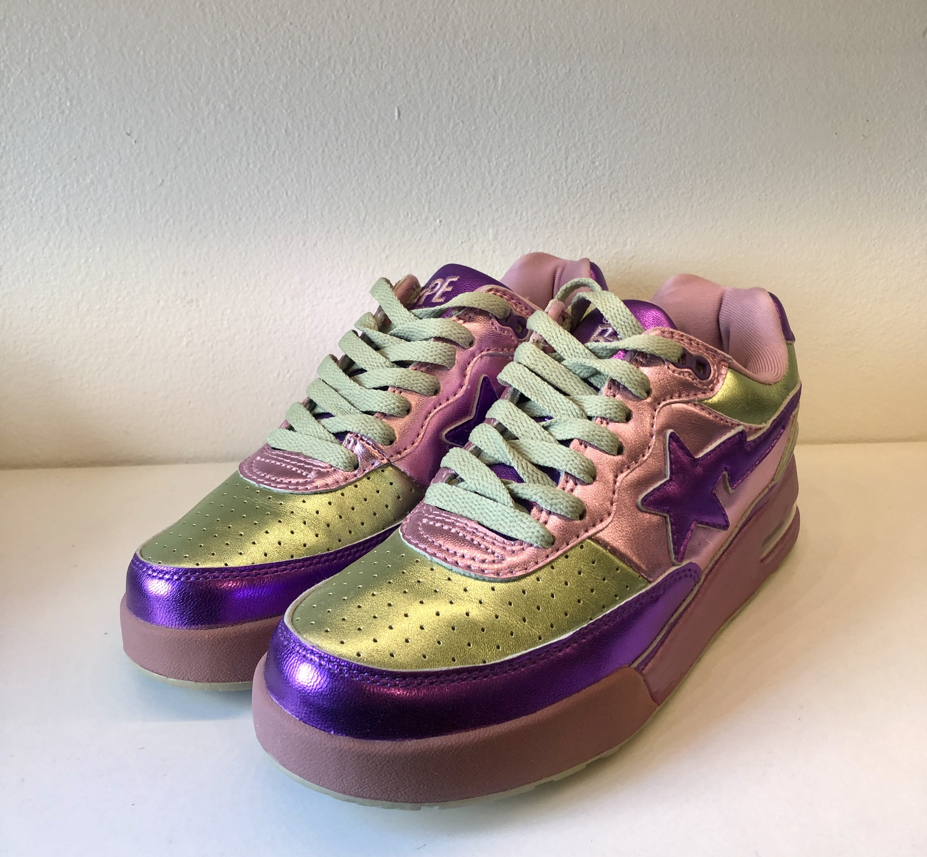 Bape Pharrell x Roadsta FS-034 Low Purple Green