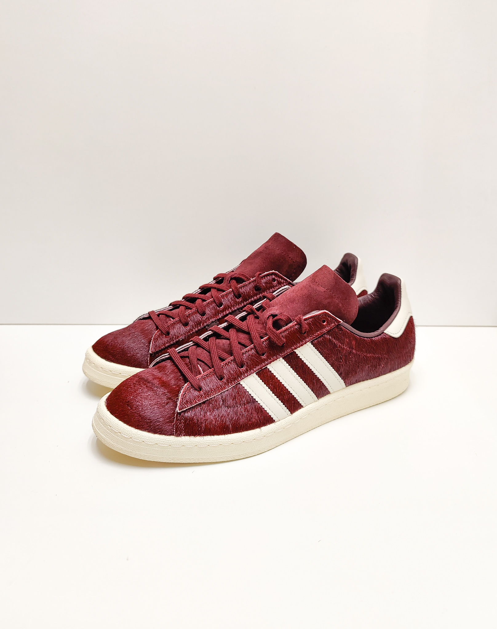 Adidas Campus 80s Pony-Hair Dark Red