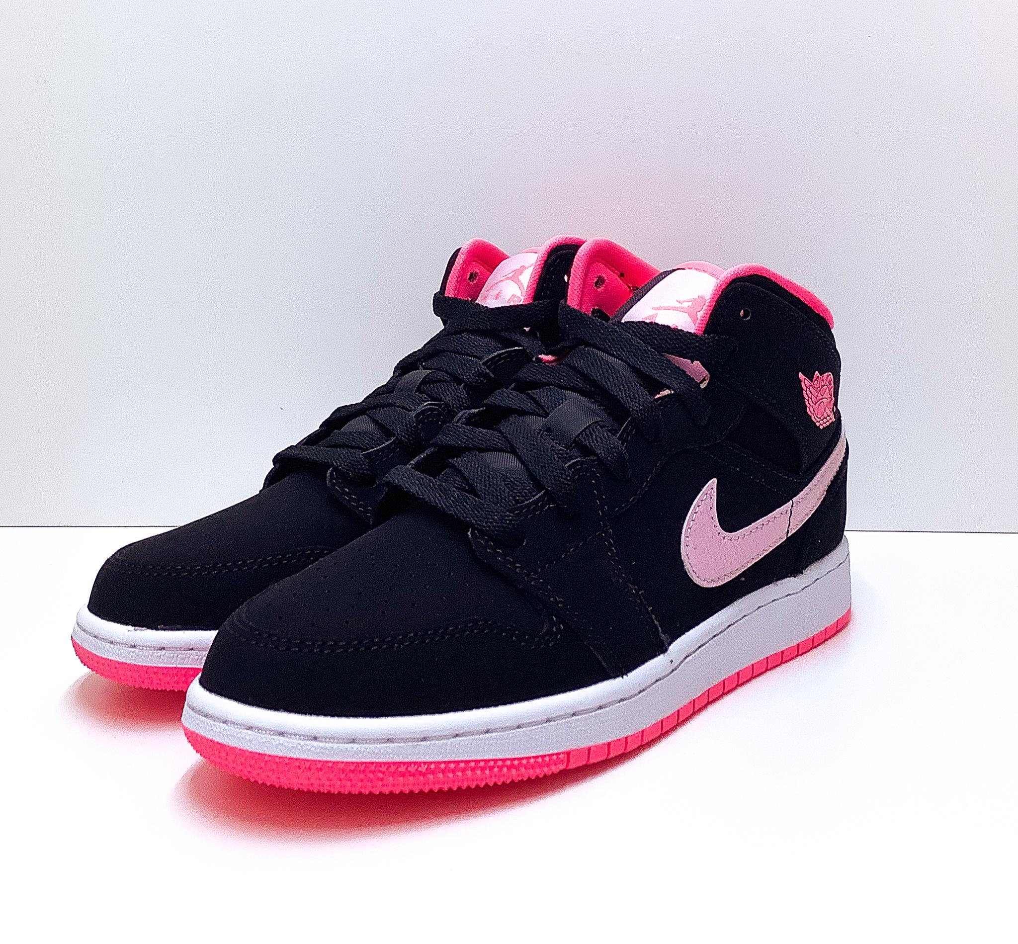 Jordan 1 Mid Black Digital Pink (GS)